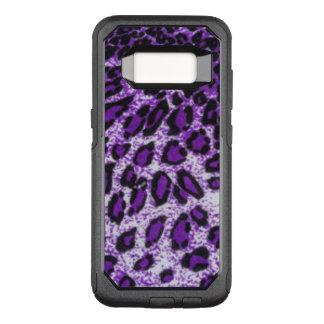 Black Purple Leopard Pattern Design OtterBox Commuter Samsung Galaxy S8 Case