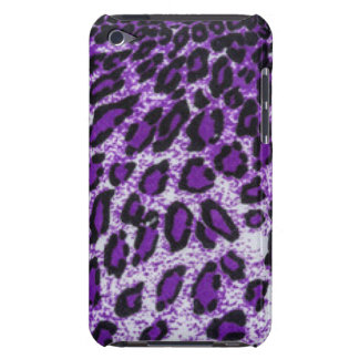 Black Purple Leopard Pattern Print Design Barely There iPod Cover