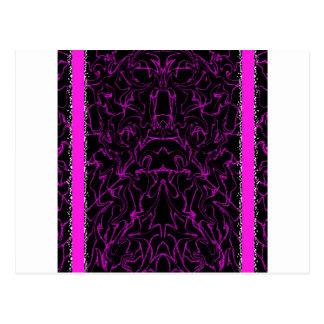 Black & Purple Marble Bling Postcard