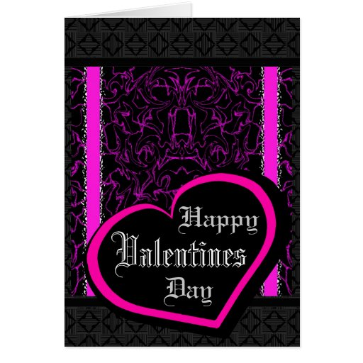 Black & Purple Marble Bling Valentines Day Card