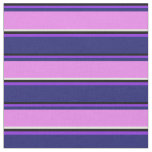 [ Thumbnail: Black, Purple, Midnight Blue, Violet, and White Fabric ]