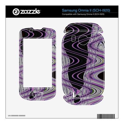black purple mod abstract samsung omnia II decals