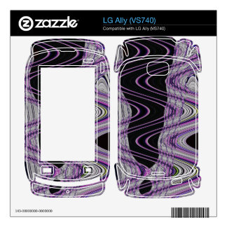 black purple mod abstract skin for LG ally