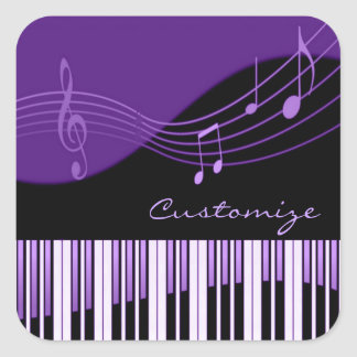 Black & Purple Musical Melody Stickers