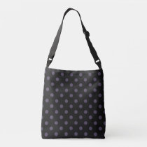 Black/Purple Polka Dot Crossbody Bag