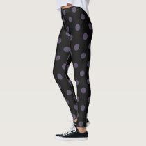 Black/Purple Polka Dot Leggings