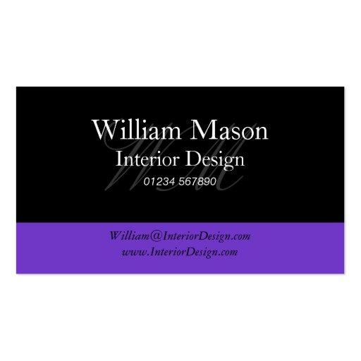 Black & Purple Professional Business Card