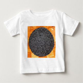 Black Purple Rice in a Wood Bowl Baby T-Shirt
