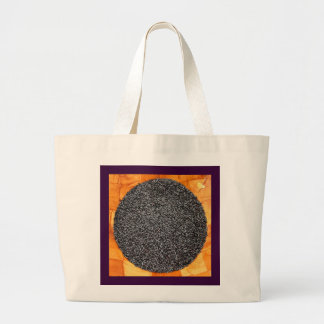 Black Purple Rice in a Wood Bowl Tote Bags