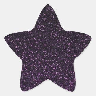 Black purple sparkly glitter star stickers
