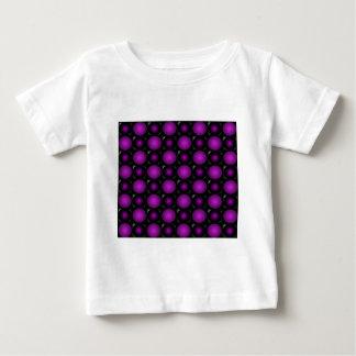 Black & Purple Spheres 3D Textured Design Baby T-Shirt