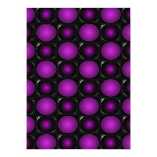 Black & Purple Spheres 3D Textured Design Card