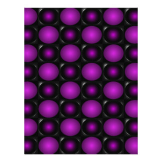 Black & Purple Spheres 3D Textured Design Letterhead