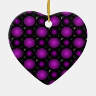 Black & Purple Spheres 3D Textured Design Ornaments