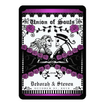 Halloween Themed Black & Purple Union of Souls Wed TOGETHER WITH Card