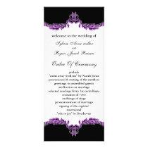 black purple Wedding program