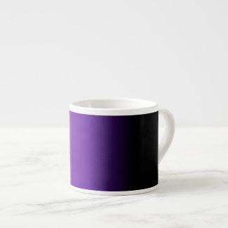 Black Purple White Ombre Espresso Cup