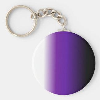 Black Purple White Ombre Key Chain