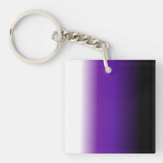 Black Purple White Ombre Keychain