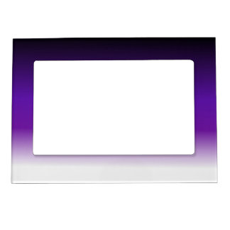 Black Purple White Ombre Magnetic Picture Frame