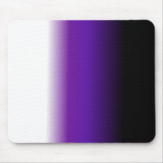 Black Purple White Ombre Mouse Pad