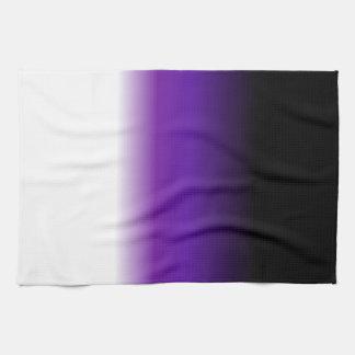 Black Purple White Ombre Towels