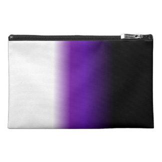 Black Purple White Ombre Travel Accessory Bags