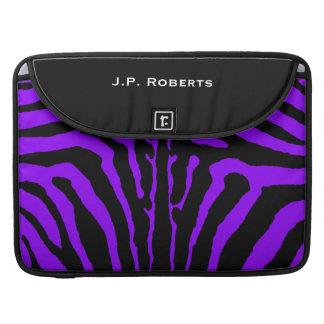 """Black Purple Zebra Pattern Macbook Pro 15"""" Sleeves Sleeves For MacBooks"""