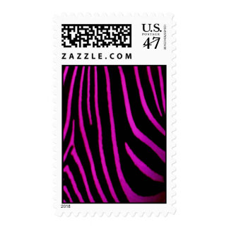 Black & Purple Zebra Print Stamp