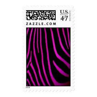 Black & Purple Zebra Print Stamp