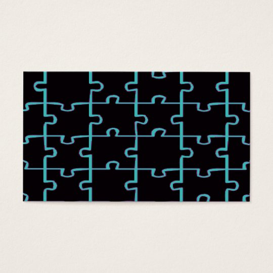 Black Puzzle Business Card
