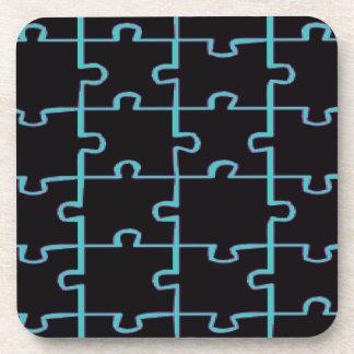 Black Puzzle Coaster