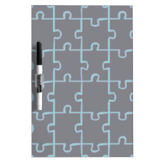 Black Puzzle Dry-Erase Board