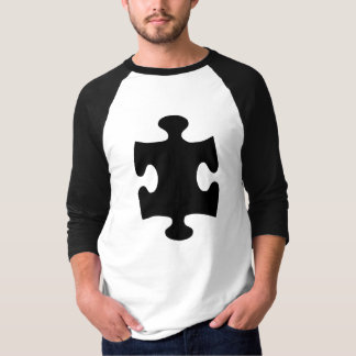 Black puzzle piece T-Shirt