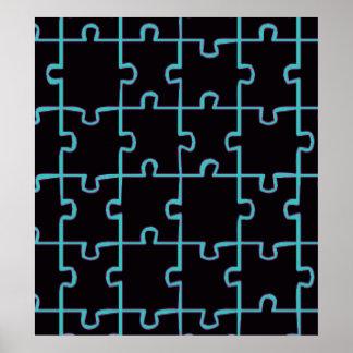Black Puzzle Poster
