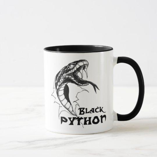 Black Python Mug