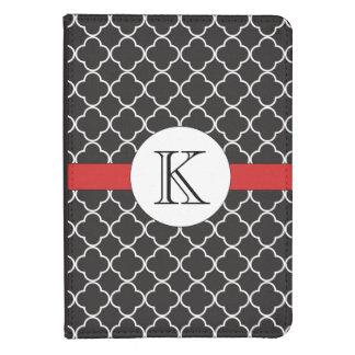 Black Quatrefoil Pattern Kindle Case