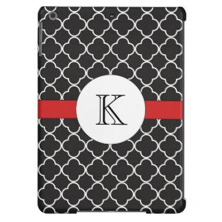 Black Quatrefoil Pattern iPad Air Cover
