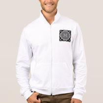 Black Quatrefoil Pattern, Gray Monogram Jacket