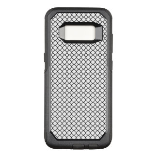 Black Quatrefoil with White Background OtterBox Commuter Samsung Galaxy S8 Case