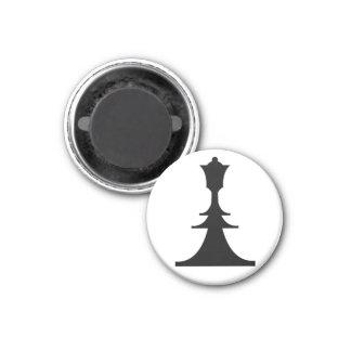black queen 1 inch round magnet