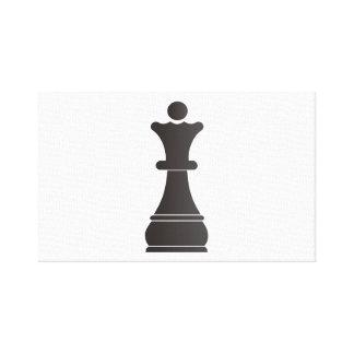 Black queen chess piece canvas print