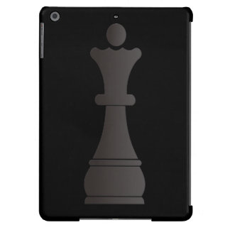 Black queen chess piece iPad air cases