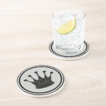 Black Queen Chess Piece Coaster