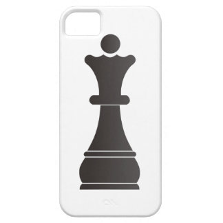 Black queen chess piece iPhone SE/5/5s case