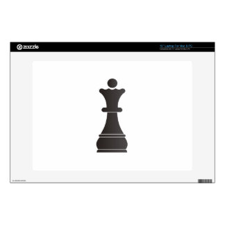 Black queen chess piece laptop skins