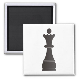 Black queen chess piece magnets