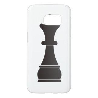 Black queen chess piece samsung galaxy s7 case