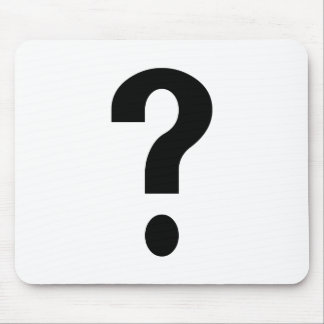 Black Question Mark Mouse Pad