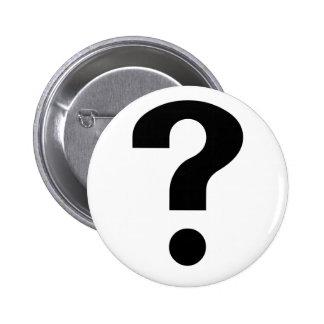 Black Question Mark Pinback Buttons